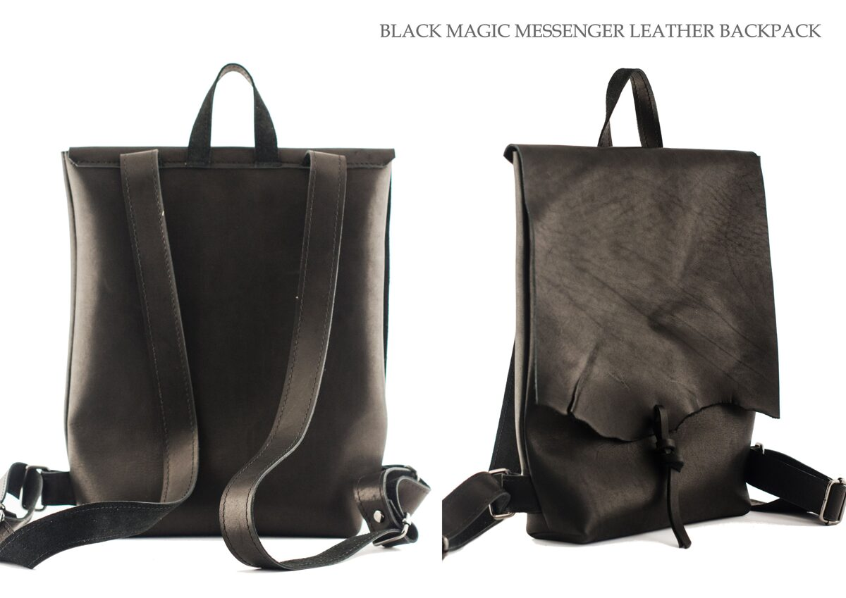 Messenger mugursoma Black Magic