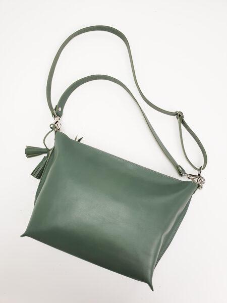 Colorful сумка через плечо M Оливково-зелёная