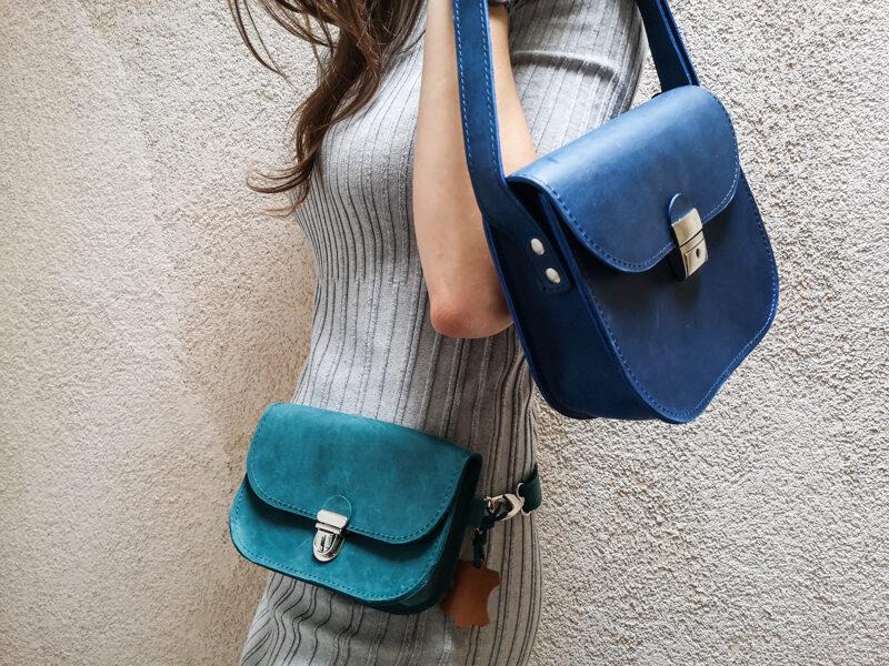 Saddle поясная сумка Сине-зелёная